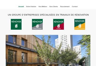 Capture d'écran du site de Renover Maconnerie