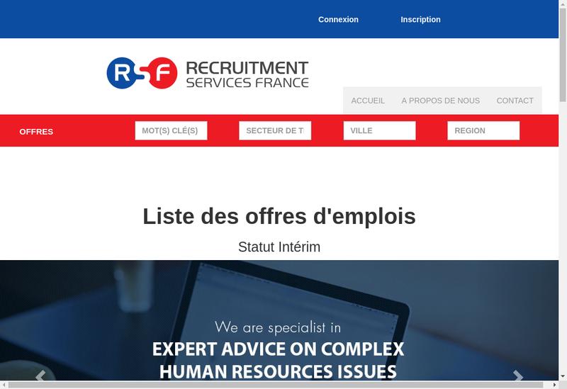 Capture d'écran du site de Resale Services France