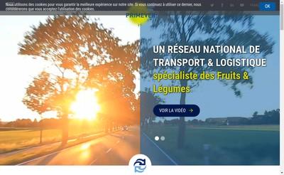 Site internet de Primever Logistique Mediterranee