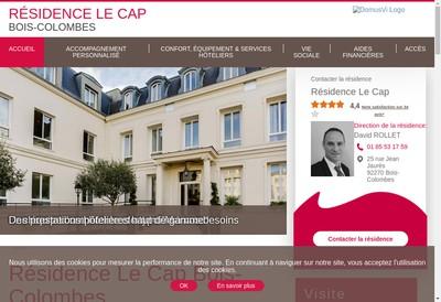 Site internet de Residence du Cap