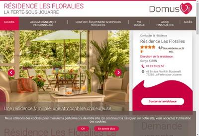Site internet de Les Floralies