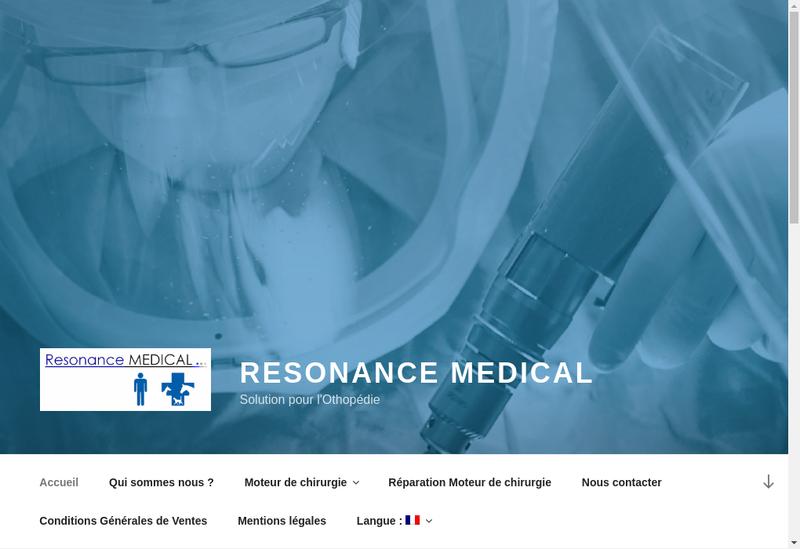 Capture d'écran du site de Resonance Medical
