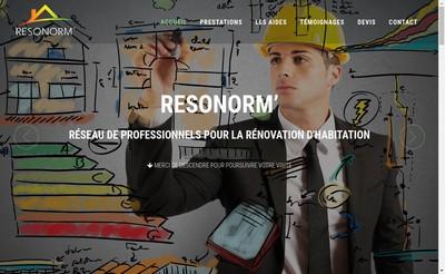 Site internet de Resonorm'