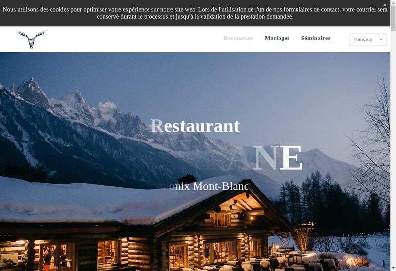 Capture d'écran du site de La Cabane des Praz