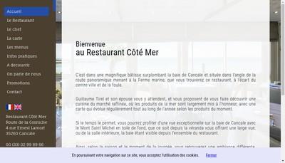 Site internet de Cote Mer