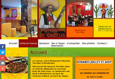 Capture d'écran du site de Le Cactus