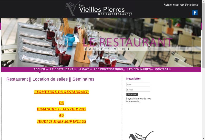 Capture d'écran du site de Les Vieilles Pierres