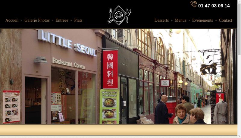 Capture d'écran du site de Little Seoul/