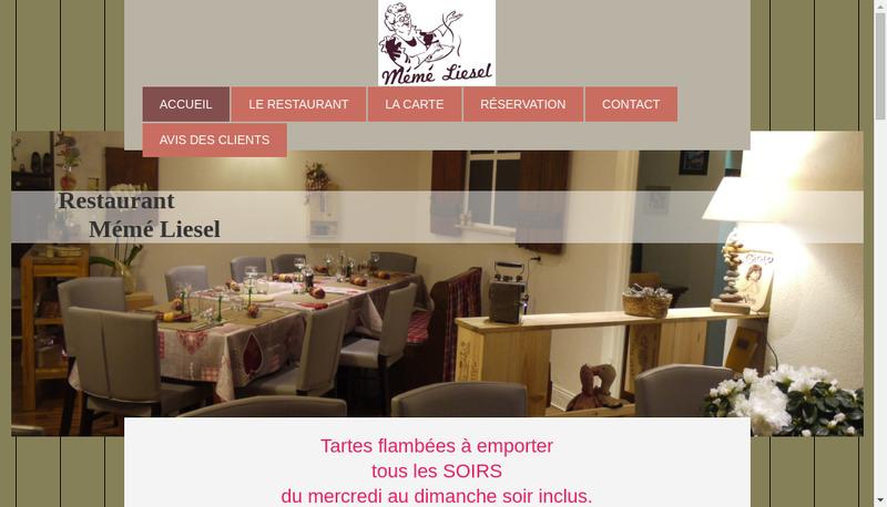Capture d'écran du site de Meme Liesel