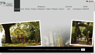 Site internet de Restaurant au Moulin de la Wantzenau