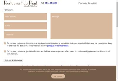 Site internet de Restaurant du Pont