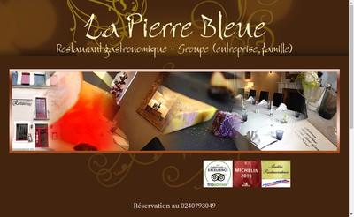 Site internet de Restaurant la Pierre Bleue