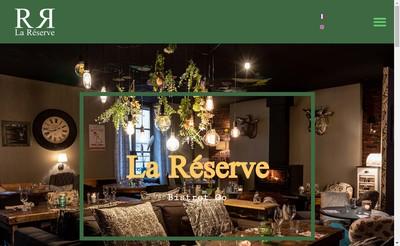 Site internet de La Reserve
