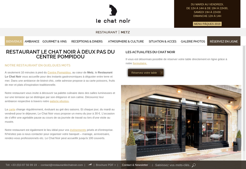 Capture d'écran du site de Le Chat Noir