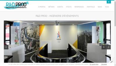 Site internet de R&D Prod