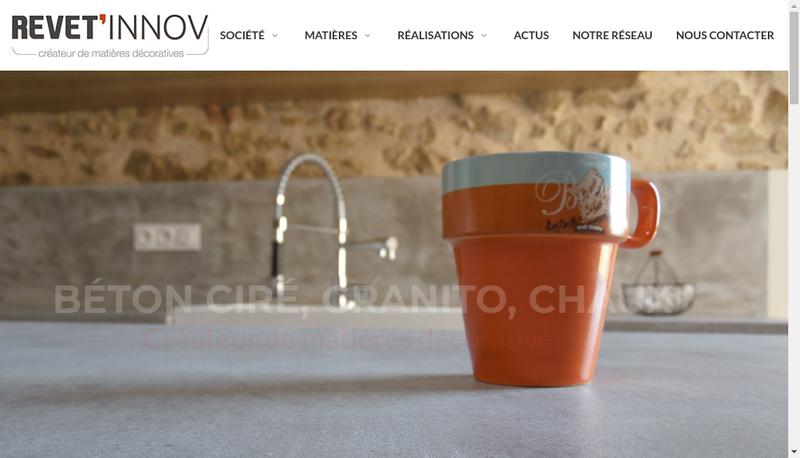Capture d'écran du site de Revet' Innov