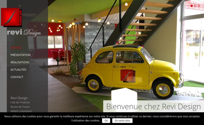 Capture d'écran du site de Revi-Design