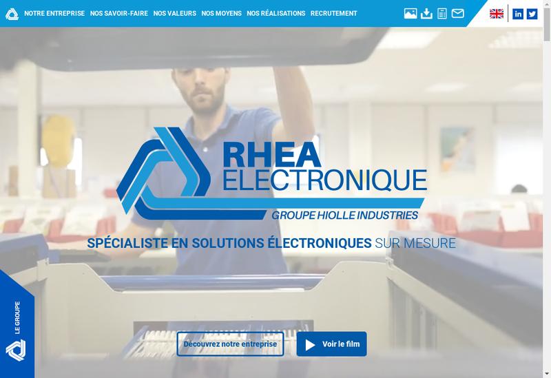 Capture d'écran du site de Rhea