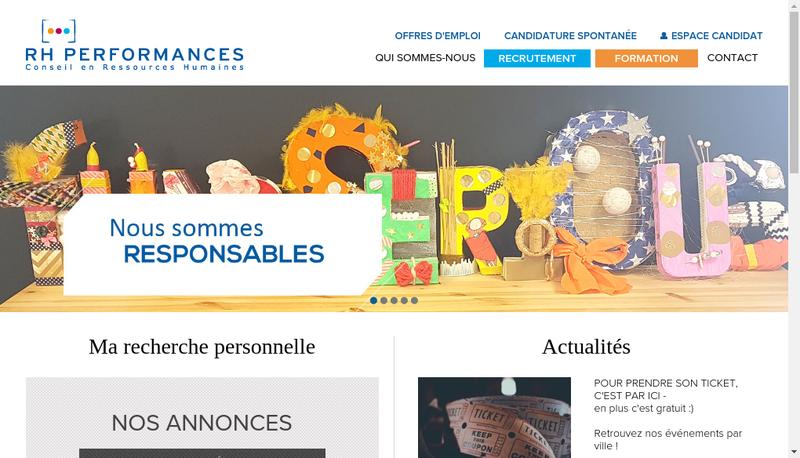 Capture d'écran du site de Rh Performances
