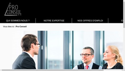 Site internet de Pro Conseil