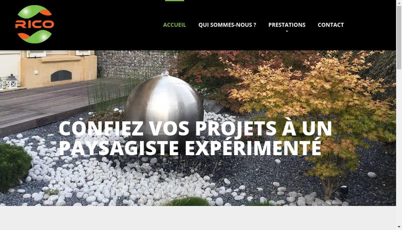 Capture d'écran du site de Rico Paysage