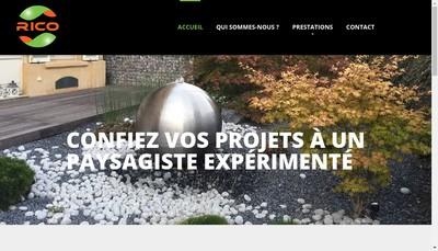 Site internet de Rico Paysage