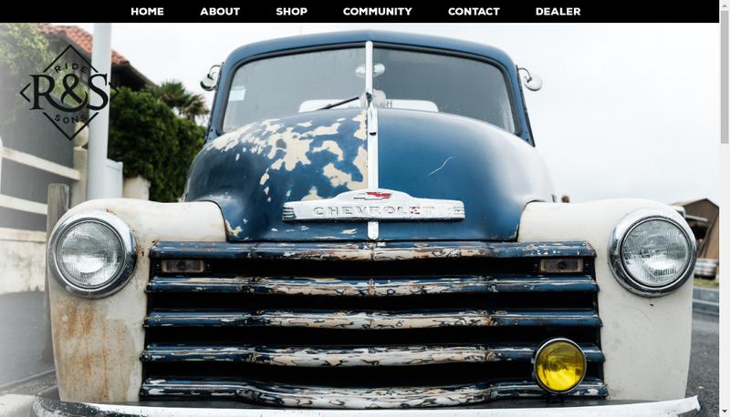 Capture d'écran du site de Old School Products