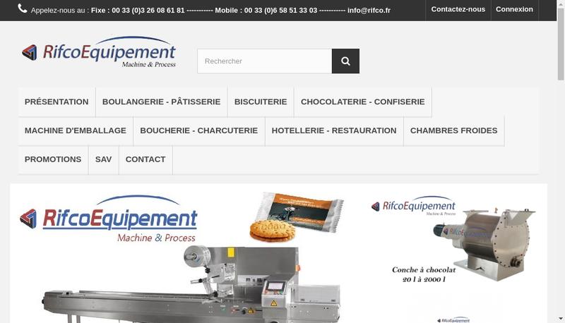 Capture d'écran du site de Rifco Equipement