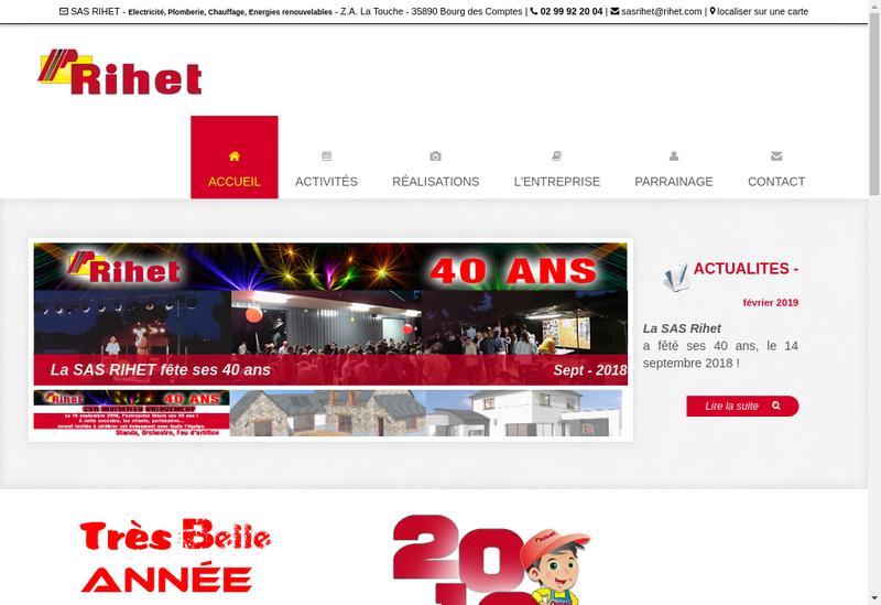 Capture d'écran du site de Rihet