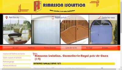 Site internet de SARL Rimasson Isolation 50