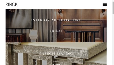 Site internet de Rinck Interieurs