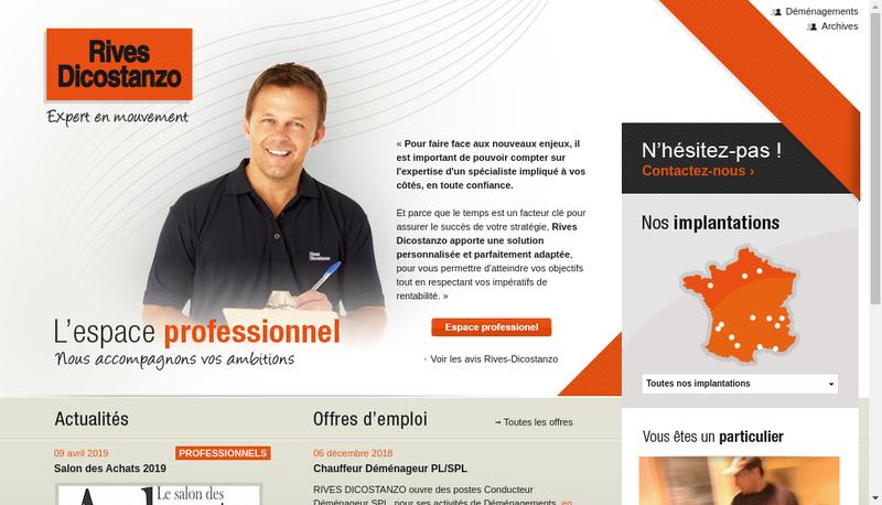 Capture d'écran du site de Rives Dicostanzo