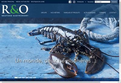 Site internet de R&O Seafood Gastronomy