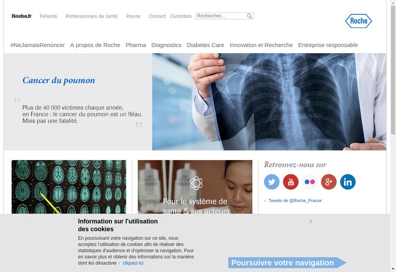 Capture d'écran du site de Roche