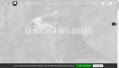 Site internet de SARL le Rocher des Aigles