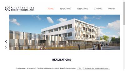 Capture d'écran du site de Ars Architectes Rocheteau Saillard