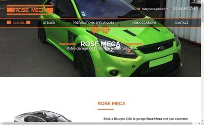 Site internet de Rose Meca