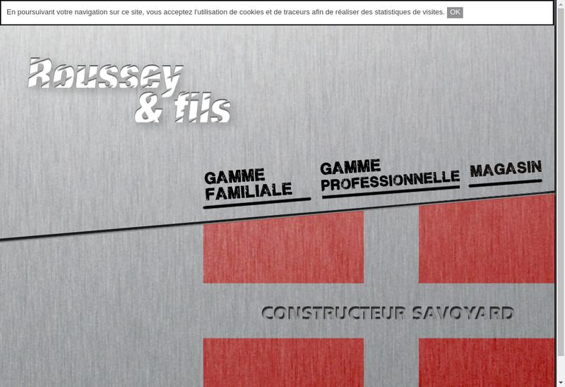 Capture d'écran du site de Etablissements Roussey et Fils