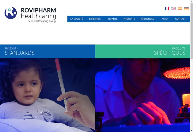 Capture d'écran du site de Rovipharm