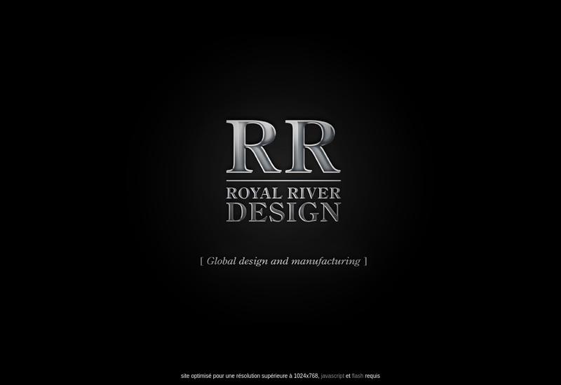 Capture d'écran du site de Royal River