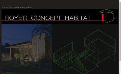 Site internet de Royer Concept Habitat