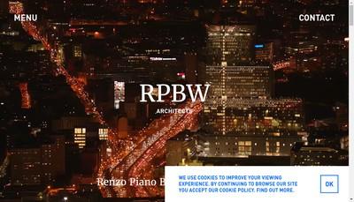 Site internet de Renzo Piano Building Workshop
