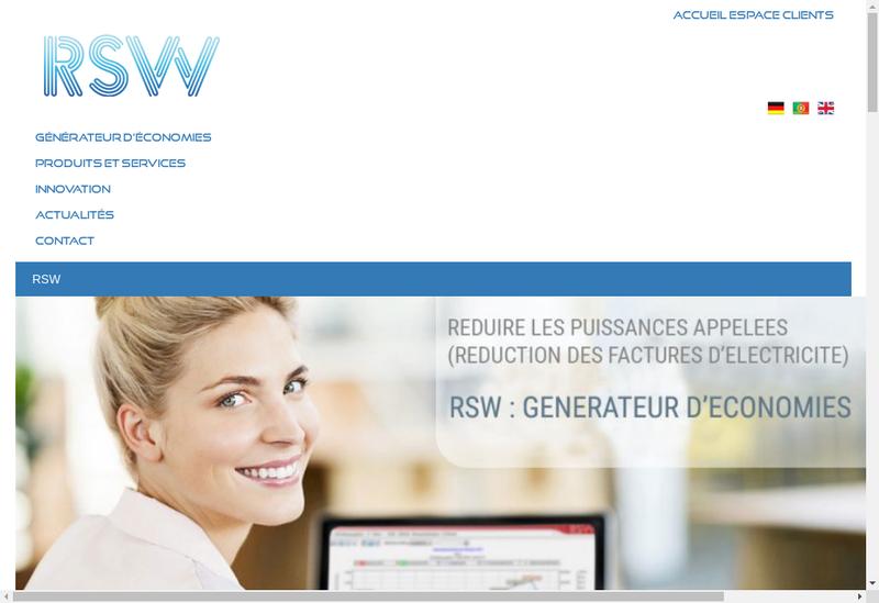 Capture d'écran du site de Rsw Net