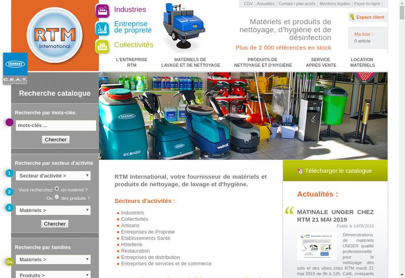 Capture d'écran du site de Cash Nettoyage