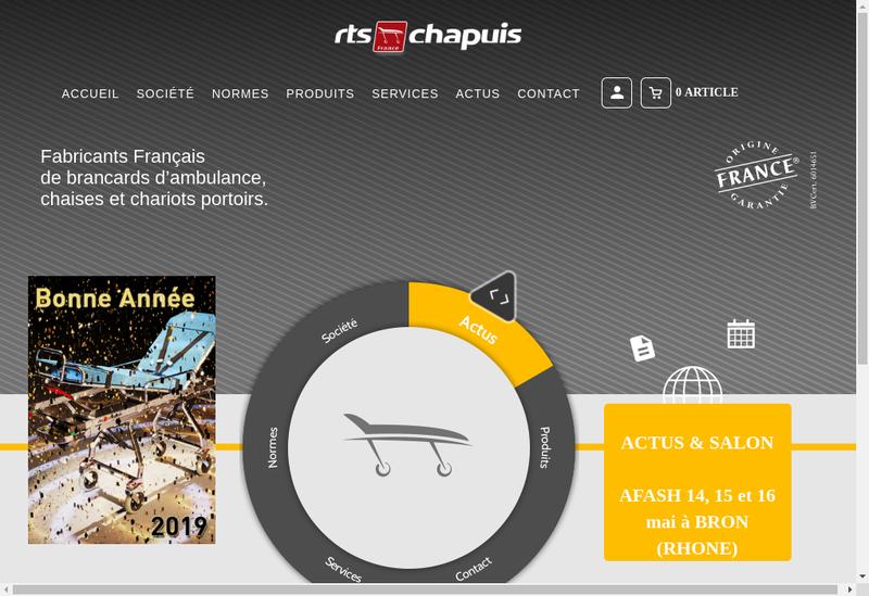 Capture d'écran du site de Rts Chapuis