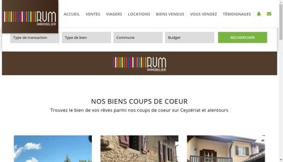 Capture d'écran du site de Rvm Immobilier, Rvm Prestige Immobilier