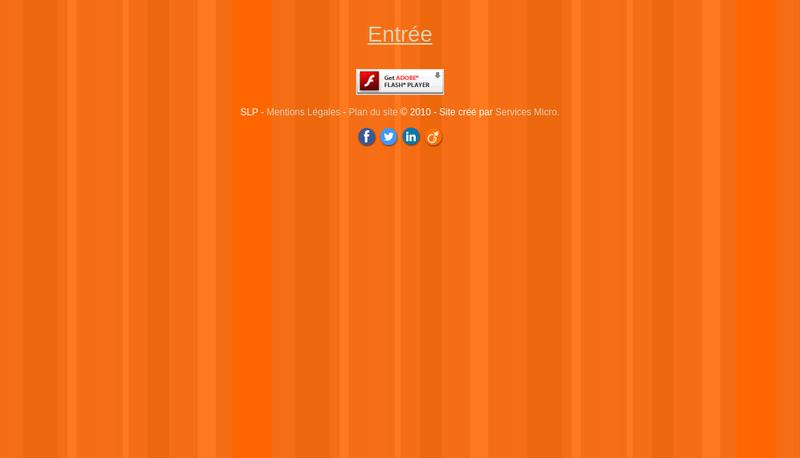 Capture d'écran du site de SLP