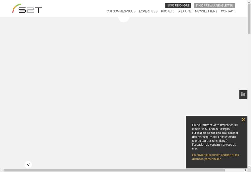 Capture d'écran du site de S2T - Ingenierie Construction Durable