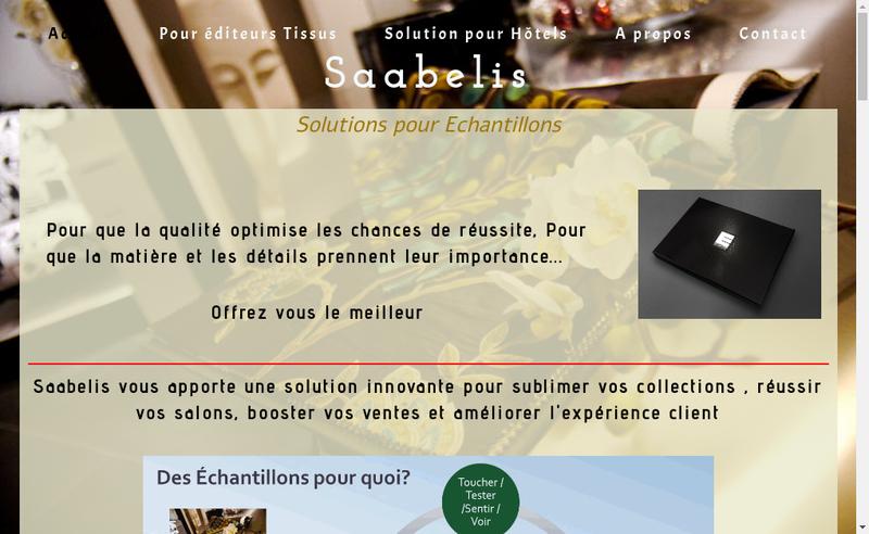 Capture d'écran du site de Saabelis