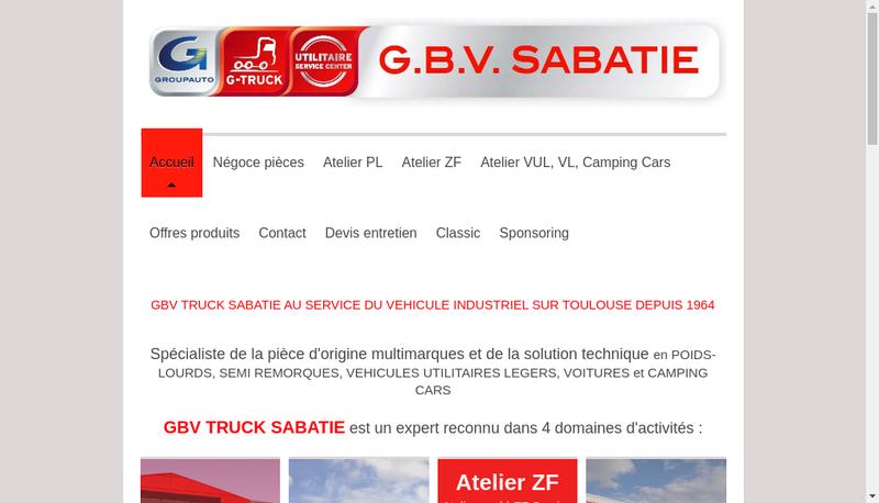 Capture d'écran du site de Sabatie
